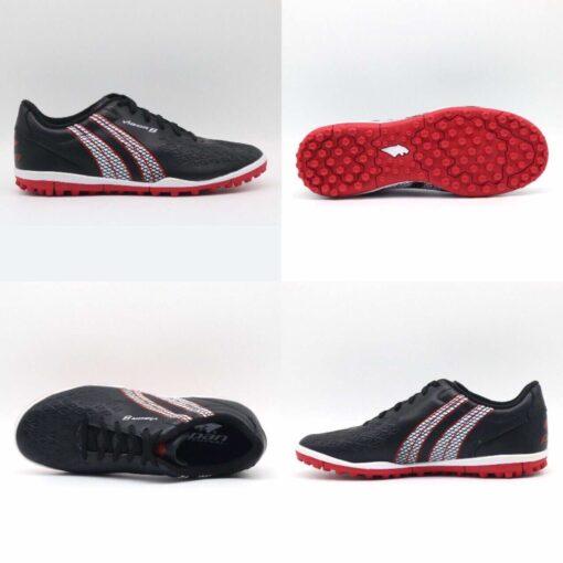 Giày đá banh Đế đinh TF PAN VIGOR 8 Sân cỏ nhân tạo Màu Đen mới