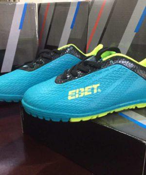 Giày đá bóng Trẻ Em EBET Sân cỏ nhân tạo Màu Xanh Ngọc mới
