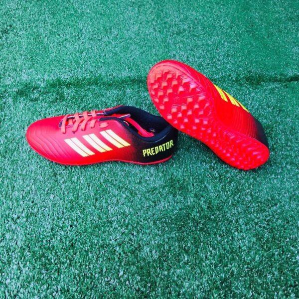 Giày đá bóng Trẻ Em PREDATOR Sân cỏ nhân tạo Màu Đỏ mối