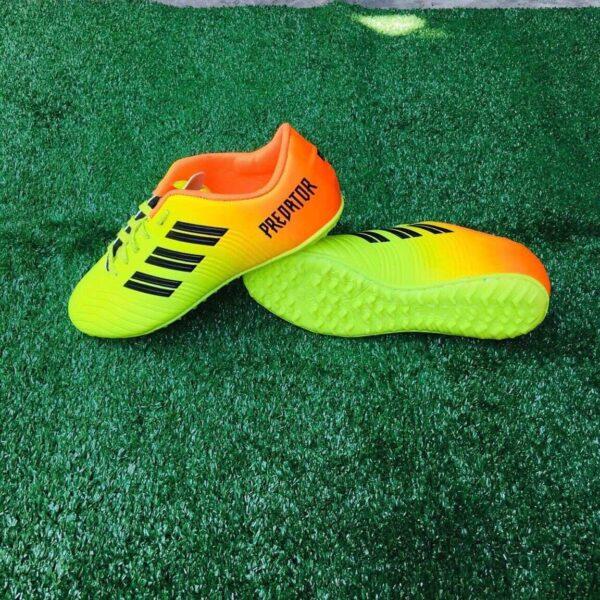 Giày đá bóng Trẻ Em PREDATOR Sân cỏ nhân tạo Màu Xanh Cam mới