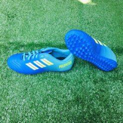 Giày đá bóng Trẻ Em PREDATOR  Sân cỏ nhân tạo Màu Xanh Da mới