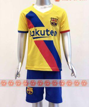 Quần áo bóng đá Trẻ em BARCELONA màu Vàng mùa giải 19-20