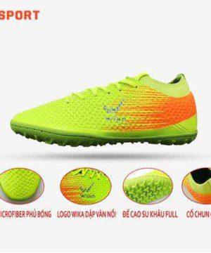Giày đá banh Đế bằng IC WIKA FLASH Sân cỏ nhân tạo Màu Xanh Chuối mới