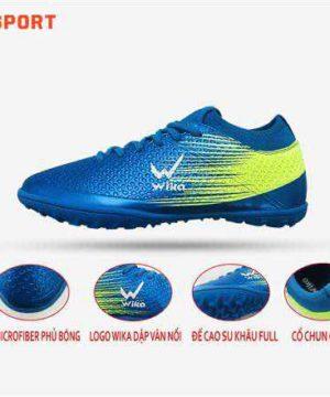 Giày đá banh Đế bằng IC WIKA FLASH Sân cỏ nhân tạo Màu Xanh Dương mới