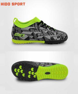 Giày đá banh Đế đinh TF EBET EB6312 Sân cỏ nhân tạo Màu Xám đế Xanh Chuối mới