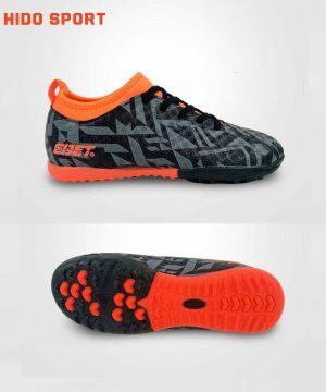 Giày đá banh Đế đinh TF EBET EB6312 Sân nhân tạo màu Xám đế Cam mới