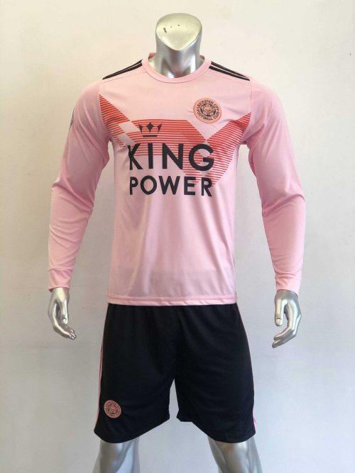 Quần áo bóng đá Tay dài Leicester màu Hồng mùa giải 19-20