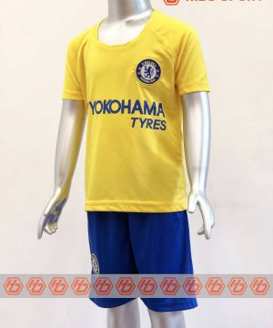 Quần áo bóng đá Trẻ Em Chelsea màu Vàng mùa giải 19-20