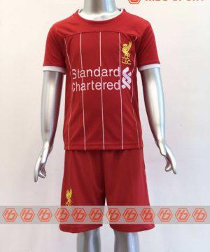 Quần áo bóng đá Trẻ em Liverpool màu Đỏ mùa giải 19-20