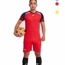 Áo bóng đá không logo cao cấp CP NOVA màu Đỏ