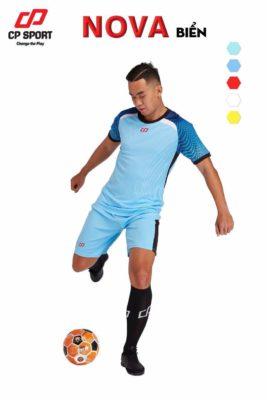 Áo bóng đá không logo cao cấp CP NOVA màu Xanh Biển