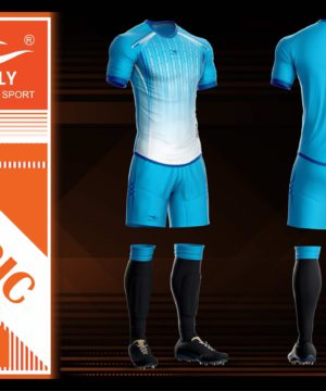 Áo bóng đá không logo cao cấp KEEP & FLY MAGIC màu Xanh Da