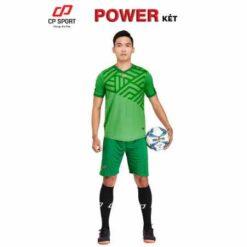 Áo bóng đá không logo cao cấp POWER màu Xanh Két mới