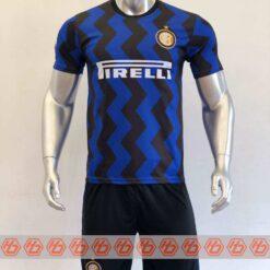 Quần áo bóng đá INTER MILAN màu Xanh Sọc Đen mùa giải 20-21