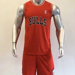 Quần áo bóng rổ cao cấp BULLS màu Xanh