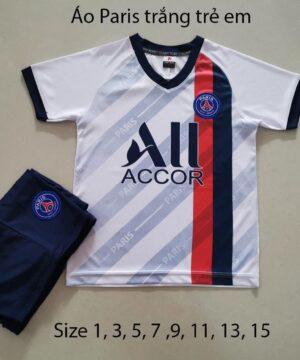 Quần áo bóng đá Trẻ Em CLB PSG màu Trắng 20-21