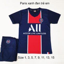 Quần áo bóng đá Trẻ Em CLB PSG màu Xanh Đen 20-21