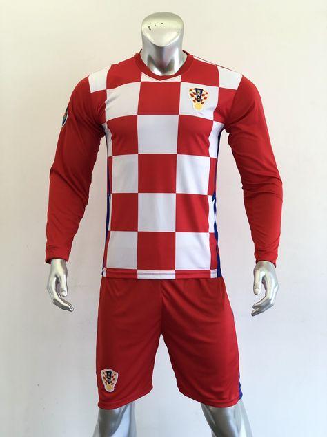 Áo đấu Tay dài Đội tuyển Croatia màu Caro Đỏ Trắng mùa giải 20-21