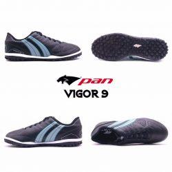 Giày đá banh Đế Đinh TF PAN VIGOR 9 Sân cỏ nhân tạo Màu Đen mới