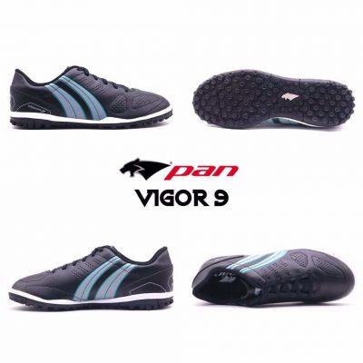 Giày đá banh Đế Đinh TF PAN VIGOR 9 Màu Đen