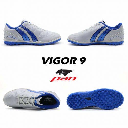 Giày đá banh Đế Đinh TF PAN VIGOR 9 Sân cỏ nhân tạo Màu Xanh Xám