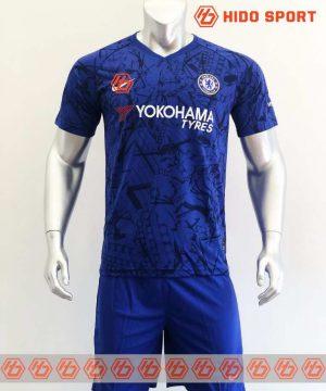 Quần áo bóng đá hàng Thái cao cấp Chelsea màu Xanh Bích 2020