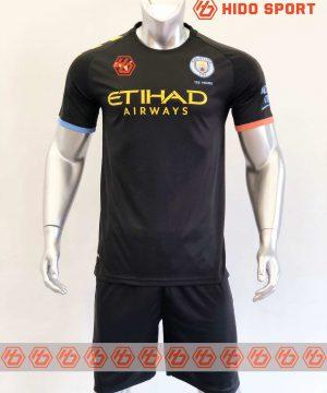 Quần áo bóng đá hàng Thái cao cấp Manchester City màu Đen 2020