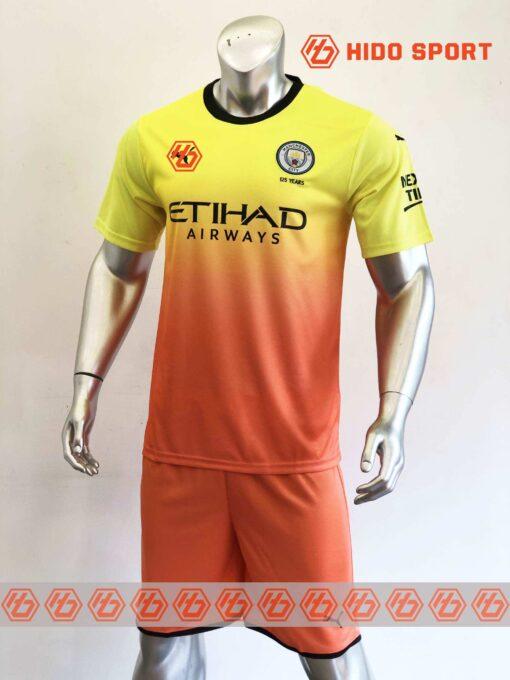Quần áo bóng đá hàng Thái cao cấp Manchester City màu Vàng Cam 2020