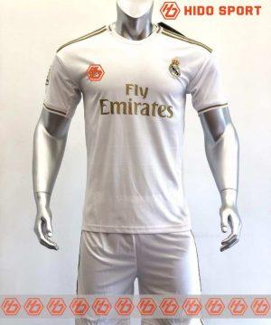 Quần áo bóng đá hàng Thái cao cấp Real Madrid màu Trắng mùa giải 2020