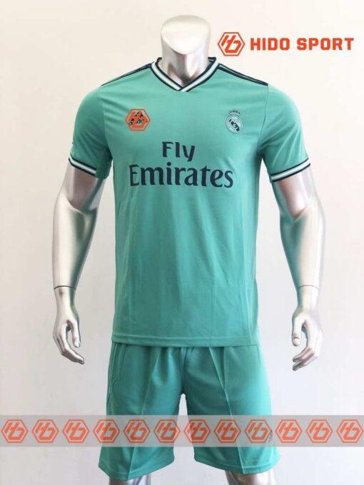 Quần áo bóng đá hàng Thái cao cấp Real Madrid màu Xanh Ngọc 2020