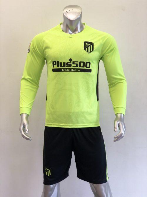 Quần áo bóng đá Tay dài Atletico Madrid Xanh Chuối mùa giải 20-21