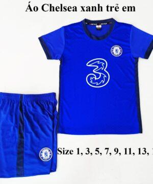 Quần áo bóng đá Trẻ Em CLB CHELSEA màu Xanh Bích 2019-2020
