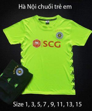 Quần áo bóng đá Trẻ Em CLB HÀ NỘI FC màu Xanh Chuối 20-21