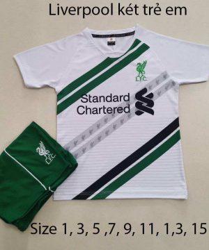 Quần áo bóng đá Trẻ Em CLB LIVERPOOL màu Trắng 20-21
