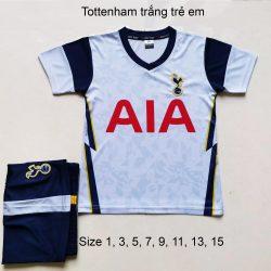 Quần áo bóng đá Trẻ Em CLB TOTTENHAM màu Trắng 20-21