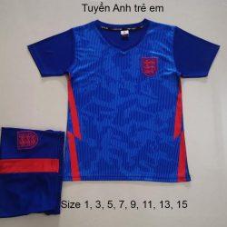 Quần áo bóng đá Trẻ Em Đội Tuyển ANH màu Xanh 20-21