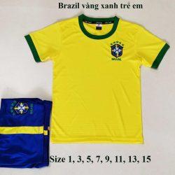 Quần áo bóng đá Trẻ Em Đội Tuyển BRAZIL màu Vàng 20-21
