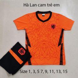 Quần áo bóng đá Trẻ Em Đội Tuyển HÀ LAN màu Cam 20-21