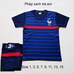 Quần áo bóng đá Trẻ Em Đội Tuyển PHÁP màu Xanh 20-21