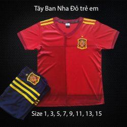 Quần áo bóng đá Trẻ Em Đội Tuyển TÂY BAN NHA màu Đỏ 20-21