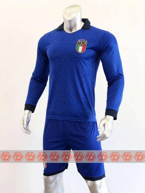 Áo đấu Tay dài Đội tuyển Italia màu Xanh mùa giải 20-21