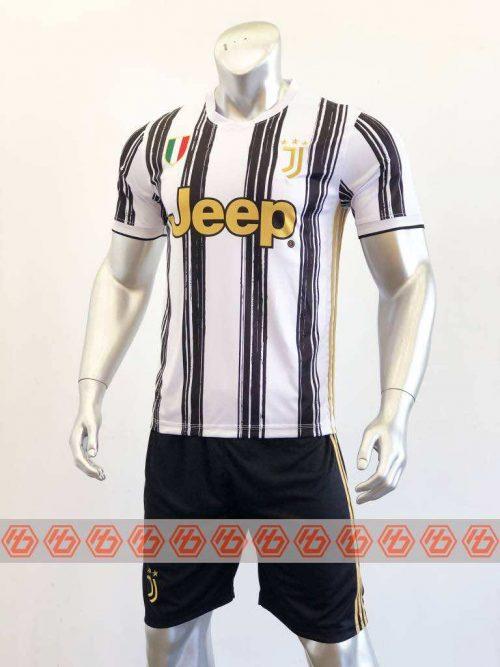 Quần áo bóng đá Juventus màu Trắng Sọc Đen mùa giải 20-21