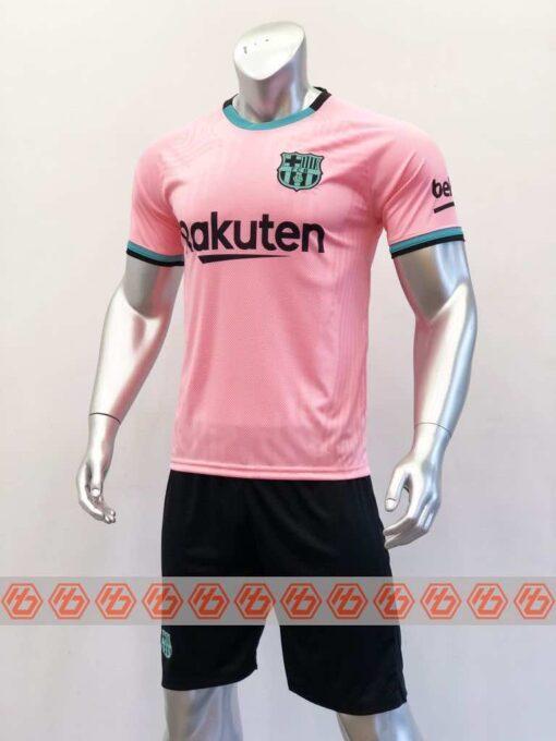 Quần áo bóng đá Tay dài BARCELONA màu Hồng mùa giải 20-21