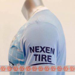 Quần áo bóng đá Tay dài Manchester City màu Xanh Da mùa giải 20-21