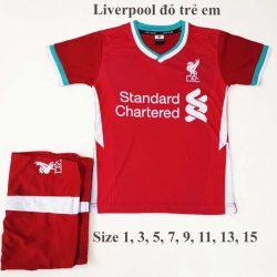Quần áo bóng đá Trẻ Em LIVERPOOL màu ĐỎ 20-21