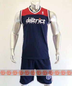 Quần áo bóng rổ cao cấp NBA màu Xanh Da