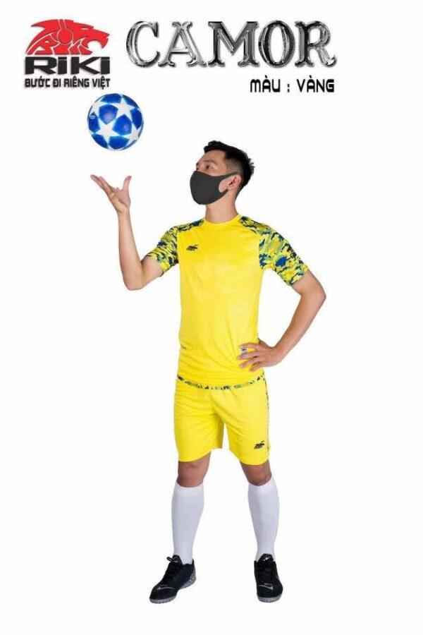 Áo bóng đá không logo cao cấp RIKI-CAMOR màu Xanh Ngọc