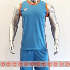 Quần áo bóng rổ cao cấp CAMO màu Xanh Da