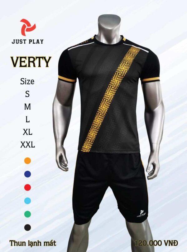 Áo bóng đá không logo cao cấp JP VERTY màu Đỏ