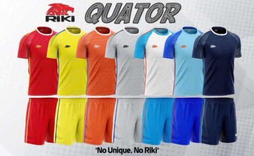 Áo bóng đá không logo cao cấp RIKI- QUATOR màu Đỏ